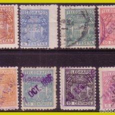 Sellos: TELÉGRAFOS 1932 ESCUDO DE ESPAÑA, EDIFIL Nº 68 A 75 (O). Lote 237268585