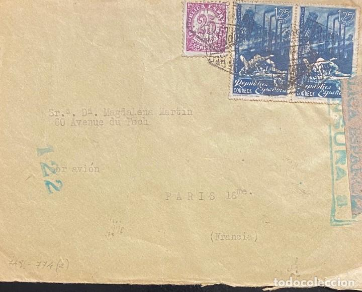 ESPAÑA, CARTA CIRCULADA EN EL AÑO 1938 (Sellos - España - II República de 1.931 a 1.939 - Cartas)