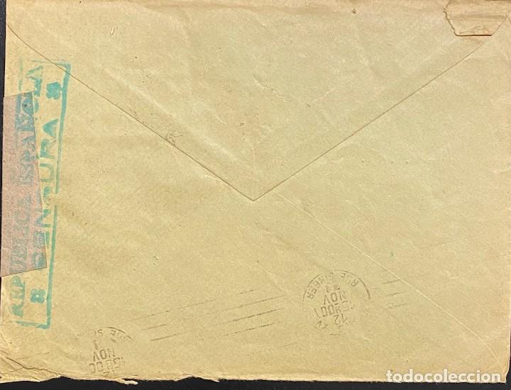 Sellos: ESPAÑA, CARTA CIRCULADA EN EL AÑO 1938 - Foto 2 - 237268750