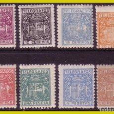 Sellos: TELÉGRAFOS 1932 ESCUDO DE ESPAÑA, EDIFIL Nº 68 A 75 * *. Lote 237268755