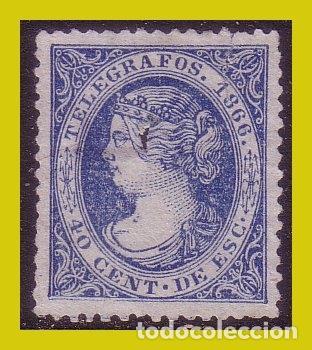 TELÉGRAFOS 1866 ISABEL II, EDIFIL Nº 14 (O) (Sellos - España - II República de 1.931 a 1.939 - Nuevos)