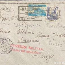 Sellos: ESPAÑA, CARTA CIRCULADA EN EL AÑO 1937. Lote 237269255