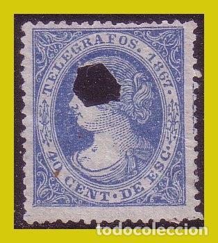 TELÉGRAFOS 1867 ISABEL II, EDIFIL Nº 18 (O) (Sellos - España - II República de 1.931 a 1.939 - Nuevos)