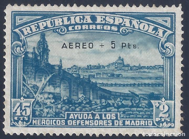 EDIFIL 759 DEFENSA DE MADRID 1938. SOBRECARGA AUTÉNTICA. CENTRADO DE LUJO. VALOR CAT.: 900 €. MNH ** (Sellos - España - II República de 1.931 a 1.939 - Nuevos)