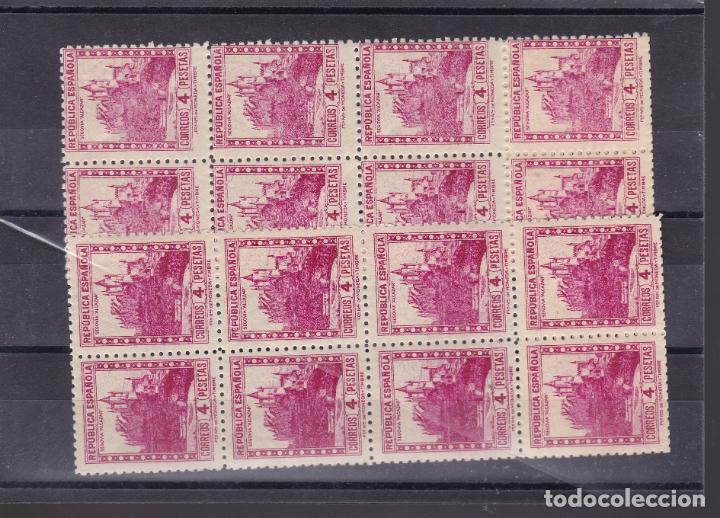 NN12- MONUMENTOS REPÚBLICA ALCÁZAR SEGOVIA X 20 SELLOS EN BLOQUES DE 10.** VARIEDAD COLOR (Sellos - España - II República de 1.931 a 1.939 - Nuevos)