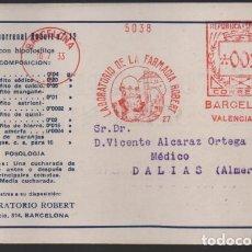 Sellos: CARTA PUBLICITARIA LABORATORIOS,- RODILLO DE REPUBLICA ESPAÑOLA, VER TOTOS. Lote 237638265