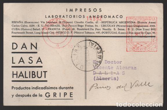 CARTA PUBLICITARIA LABORATORIOS,- RODILLO DE REPUBLICA ESPAÑOLA, VER TOTOS (Sellos - España - II República de 1.931 a 1.939 - Cartas)