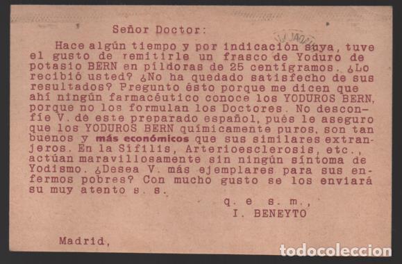 Sellos: CARTA PUBLICITARIA LABORATORIOS,- ESCUDO DE REPUBLICA ESPAÑOLA, VER TOTOS - Foto 2 - 237638830