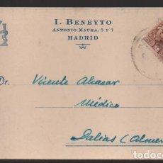 Sellos: CARTA PUBLICITARIA LABORATORIOS,- ESCUDO DE REPUBLICA ESPAÑOLA, VER TOTOS. Lote 237638990
