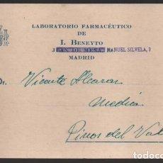 Sellos: CARTA PUBLICITARIA LABORATORIOS,- ESCUDO DE REPUBLICA ESPAÑOLA, VER TOTOS. Lote 237639080