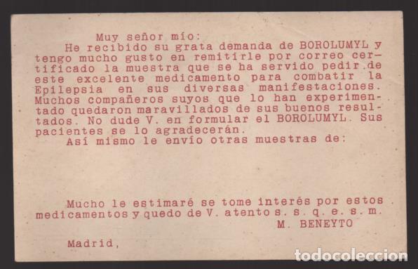 Sellos: CARTA PUBLICITARIA LABORATORIOS,- ESCUDO MONARQUICO, VER TOTOS - Foto 2 - 237639290