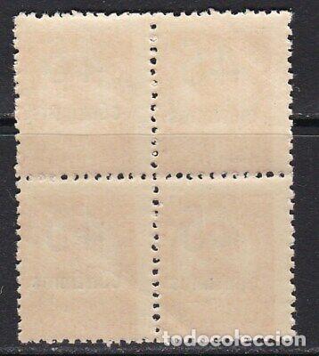 Sellos: Edifil 743 en bloque de 4 MNH V.Cat 80 sellos nuevos España año 1936 1938 Cifras habilitadas - Foto 2 - 239391125
