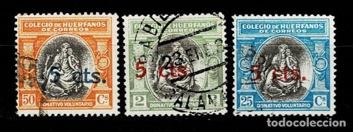 B-4 ESPAÑA BENEFICENCIA COLEGIO DE HUERFANOS DE CORREOS EDIFIL Nº B12-14 (Sellos - España - II República de 1.931 a 1.939 - Usados)