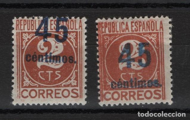 TV_003.G15/ 744T Y 744B, AÑO 1938, VARIEDAD... DISTINTOS CENTRAJES (Sellos - España - II República de 1.931 a 1.939 - Nuevos)