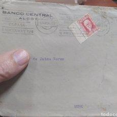 Sellos: CARTA CORREOS , ALCOY MURO ,BANCO CENTRAL PUBLICIDAD.. Lote 241119840