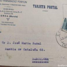 Sellos: TARJETA POSTAL LORCA MURCIA , REPÚBLICA ESPAÑOLA 1935. Lote 241120285