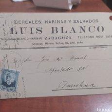Sellos: TARJETA POSTAL , ZARAGOZA REPÚBLICA ESPAÑOLA 1932. Lote 241120775