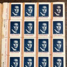 Sellos: LOTE DE 29 PLIEGOS SELLOS J. CALVO SOTELO. 1936. DIFERENTES VARIANTES. SE PRESENTAN EN BLOC. Lote 242114760
