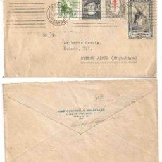 Selos: CARTA. MADRID BUENOS AIRES.JULIO 1948.TUBERCULOSOS 1947 1948. MUT,CORREOS 10 CTS APOR. VOLUNT. 10CTS. Lote 242454260