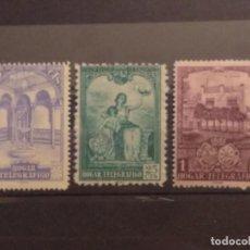 Selos: AÑO 1937 HOGAR TELEGRÁFICO EN NUEVOS EDIFIL 10-11-12. Lote 243101605