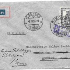 Sellos: EDIFIL 673. DE MADRID A BERNA - SUIZA POR CORREO AEREO.1937. Lote 243130245