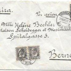 Sellos: EDIFIL 663 (PAR) - 673. DE MADRID A BERNA - SUIZA POR CORREO AEREO.1937. Lote 243131225