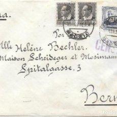 Sellos: EDIFIL 663 (PAR) - 668 (PAR). DE MADRID A BERNA - SUIZA POR CORREO AEREO.1937. Lote 243132150