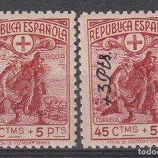 Selos: CRUZ ROJA ESPAÑOLA - 1938 NUMS. 767-768 NUEVOS SIN FIJASELLOS. Lote 243145670