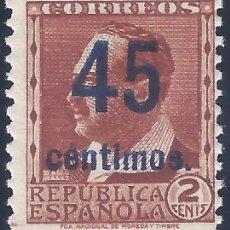 Selos: EDIFIL NE 28 1938. V. BLASCO IBÁÑEZ. NO EXPENDIDO. VALOR CATÁLOGO: 120 €. MNH **. Lote 243599405