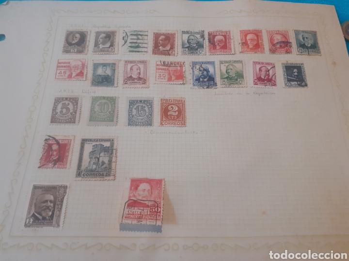 Sellos: Hoja de sellos de la república pegados con charnela - Foto 2 - 244790235