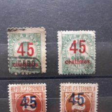 Sellos: EDIFIL 744 * CON VARIEDAD + 742 USADO CON VARIEDAD DENTADO. Lote 244814585