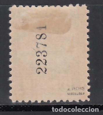 Sellos: BARCELONA. 1929-1931 EDIFIL Nº 6ef. /*/ negro. Falta el color de fondo. - Foto 2 - 244908080
