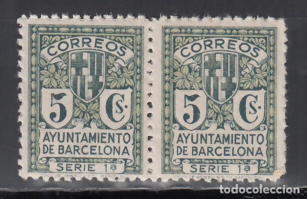 BARCELONA. 1932 EDIFIL Nº 9NA /**/, PAREJA SIN LETRA DE SERIE. (Sellos - España - II República de 1.931 a 1.939 - Nuevos)