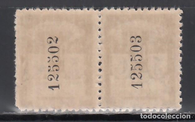 Sellos: BARCELONA. 1932 EDIFIL Nº 9na /**/, Pareja sin letra de serie. - Foto 2 - 244919430
