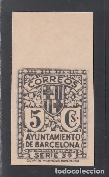 BARCELONA. 1932 EDIFIL Nº 11EFS (**), UNICOLOR, NEGRO (Sellos - España - II República de 1.931 a 1.939 - Nuevos)