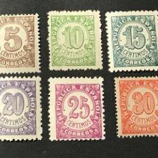 Sellos: EDIFIL 745 750 CIFRAS DE 1938, NUEVOS SIN FIJASELLOS. Lote 244923555