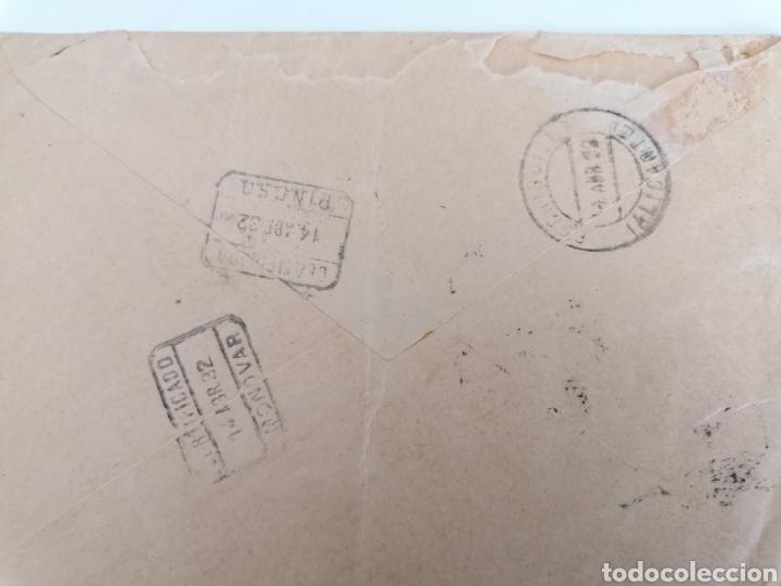 Sellos: GRANADA A RODRIGUILLO. PINOSO. ALICANTE. CARTA CERTIFICADA ABR. 1932 - Foto 2 - 244927400