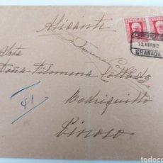 Sellos: GRANADA A RODRIGUILLO. PINOSO. ALICANTE. CARTA CERTIFICADA ABR. 1932. Lote 244927400