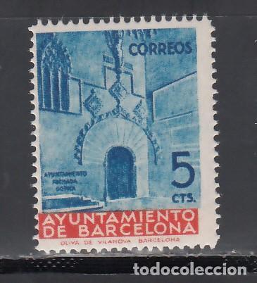 BARCELONA. 1939 EDIFIL Nº 13 MG, /**/, MUESTRAS. (Sellos - España - II República de 1.931 a 1.939 - Nuevos)