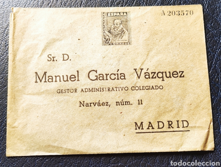 ESPAÑA SELLOS SOBRE INICIATIVA PRIVADA RARO (Sellos - España - II República de 1.931 a 1.939 - Cartas)