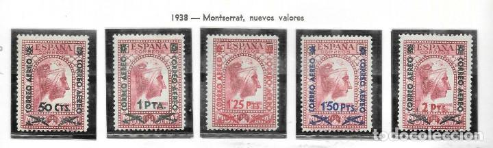 EDIFIL 782 786 NNH V.CAT 250 CENTRADO LUJO SERIE COMPLETA SELLOS NUEVOS DE ESPAÑA 1936 MONTSERRAT (Sellos - España - II República de 1.931 a 1.939 - Nuevos)