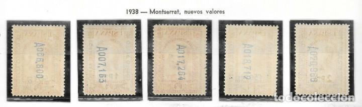 Sellos: Edifil 782 786 NNH V.Cat 250 Centrado Lujo serie completa sellos nuevos de España 1936 Montserrat - Foto 2 - 245249120