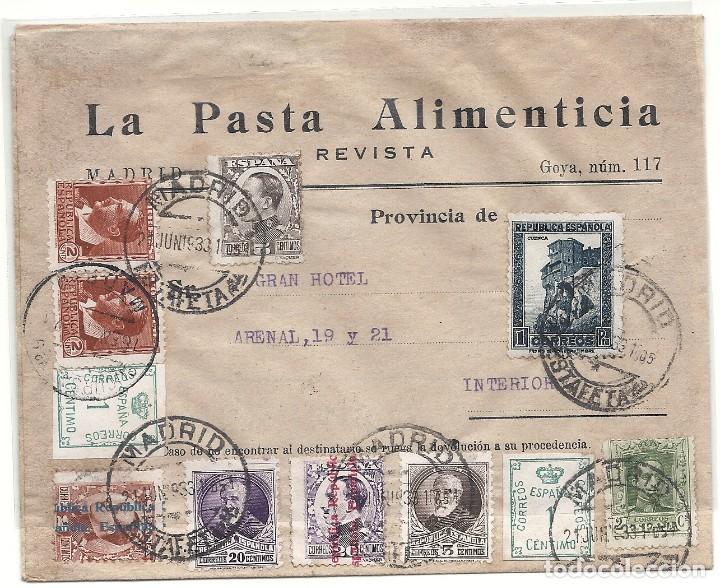 II REPÚBLICA ESPAÑOLA. AÑO 1933. CARTA CIRCULACION INTERIOR MADRID. (Sellos - España - II República de 1.931 a 1.939 - Cartas)