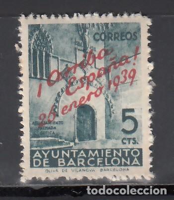 BARCELONA. 1939 EDIFIL Nº 21 /**/, NÚMERO DE CONTROL AL DORSO. SIN FIJASELLOS. (Sellos - España - II República de 1.931 a 1.939 - Nuevos)