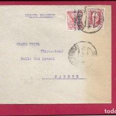 Sellos: II REPÚBLICA ESPAÑOLA.AÑO 1932.CARTA URGENTE CIRCULADA ; SAN SEBASTIAN - MADRID.. Lote 245296685