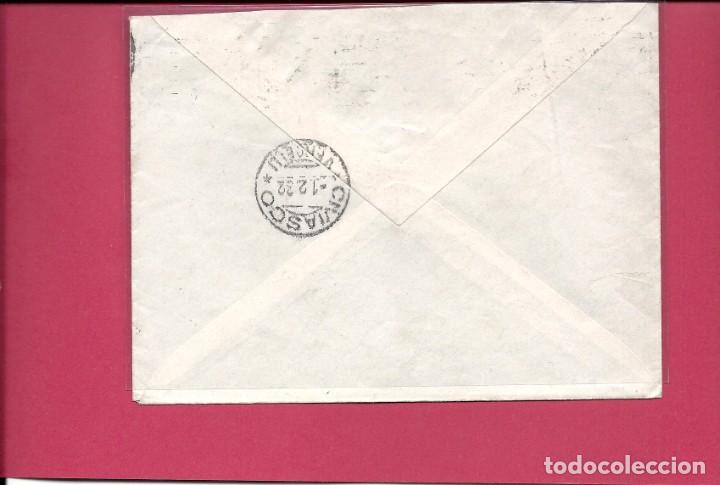Sellos: ESPAÑA - II República. AÑO 1932.CARTA CIRCULADA.MADRID - ITALIA. - Foto 2 - 245297510