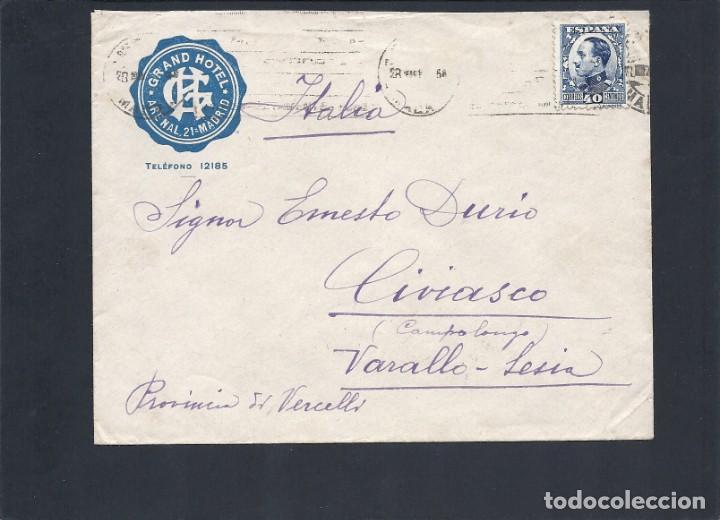REPÚBLICA ESPAÑOLA.AÑO 1931.CARTA CIRCULADA; MADRID-ITALIA. (Sellos - España - II República de 1.931 a 1.939 - Cartas)