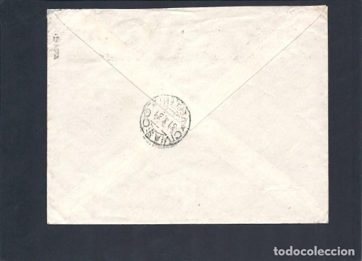 Sellos: REPÚBLICA ESPAÑOLA.AÑO 1931.CARTA CIRCULADA; MADRID-ITALIA. - Foto 2 - 245297885