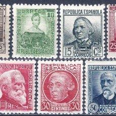 Sellos: EDIFIL 681-688 PERSONAJES 1933-1935 (SERIE COMPLETA). MNH **. Lote 245656325