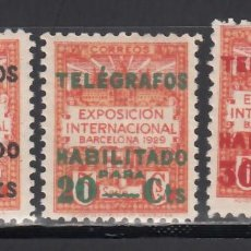 Sellos: BARCELONA. TELÉGRAFOS. 1929 EDIFIL Nº 1 / 3 /**/, SIN FIJASELLOS. Lote 245903335